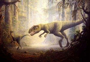 Allosaurus and Ornitholestes