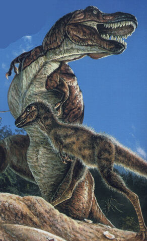 File:Mother and Juvenile T. rex.jpg