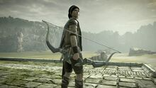 Wander holding the Ancient Bow