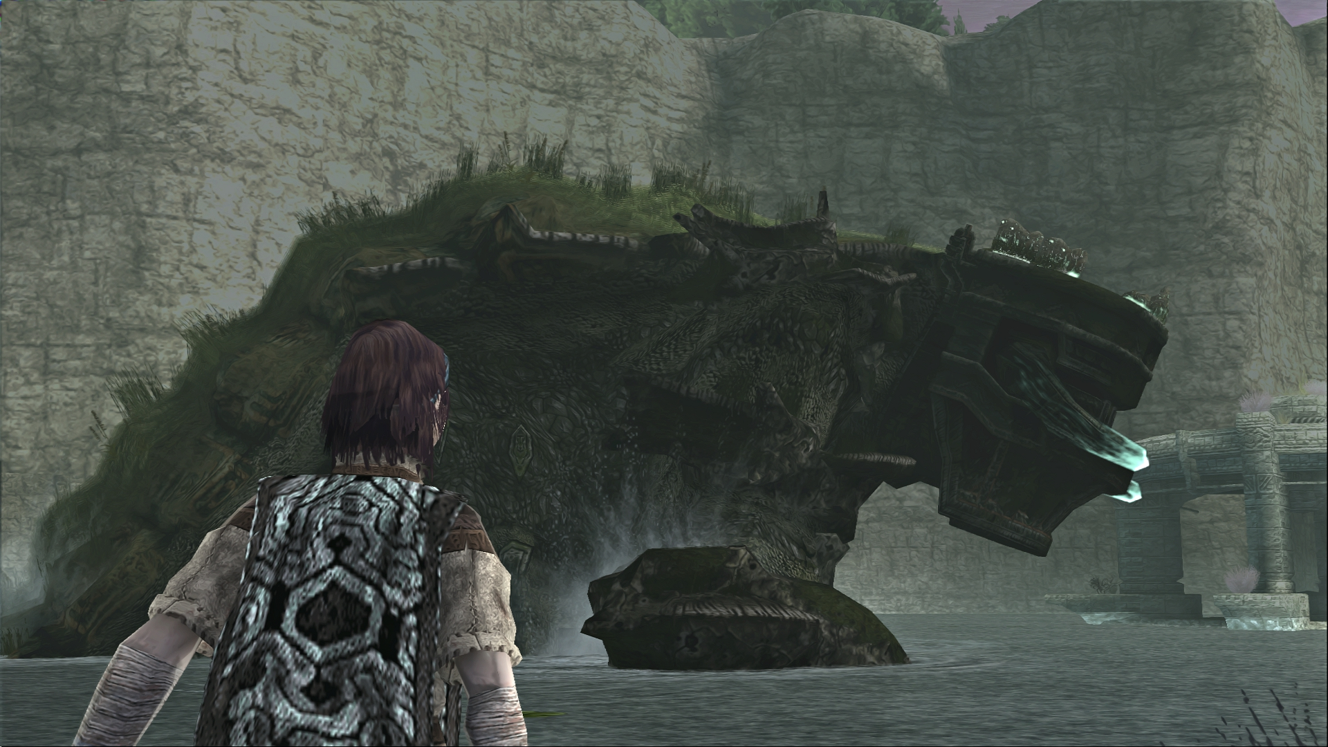 Shadow Of Th Colossus SOTC Wallpaper Pelagia Great Basilisk 08