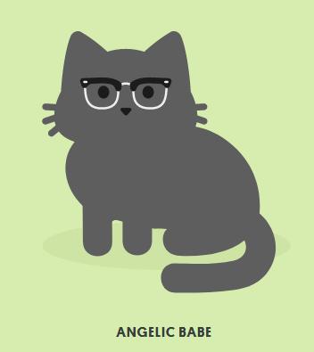 cbd5f538cc09 Tabby Cat Edit. Browline glasses-0