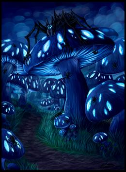 Mushroom forest by niicchan-d6ezgek