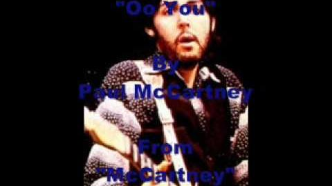 """Oo You"" By Paul McCartney"