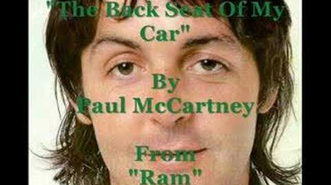"""""""The Back Seat Of My Car"""" By Paul McCartney"""