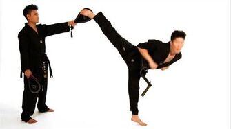 How to Do a Spinning Hook Kick Taekwondo Training