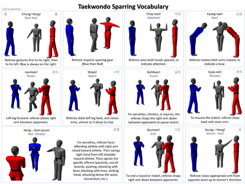 Sparring Gestures