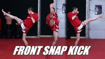Taekwondo Front Snap Kick Tutorial for MMA & Kickboxing 60fps