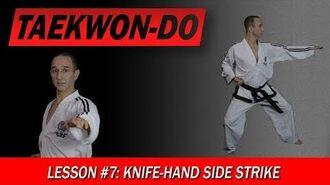 Taekwon-Do Lesson 7 Knife-Hand Side Strike-1