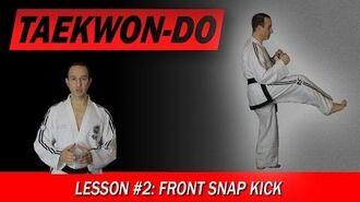 Taekwon-Do Lesson 2 Front Snap Kick