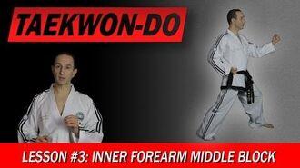 Taekwon-Do Lesson 3 Inner Forearm Middle Block