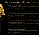 Kukkiwon/WT Black Belt forms