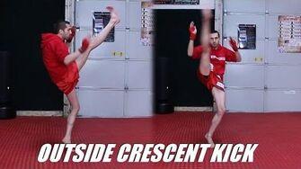 Taekwondo Crescent Kick Tutorial (Outside) for MMA & Kickboxing 60fps