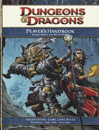 Dungeons and dragons 4th edition player's handbook 3 and.