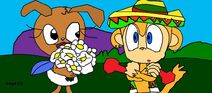 Lawns And Amigo With Flowers