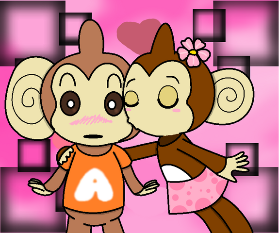 File:Super monkey ball valatines day aiai and meemee by misskatt66-d36ibzs.png