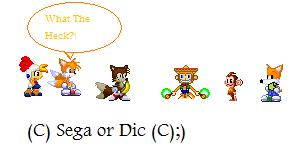 File:Tails Billy Hatcher Amigo Aiai And Ceaser Meets Tails From Advantures Of Sonic The Hedeghog.jpg