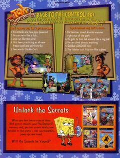 Tak The Great Juju Challenge game print ad Nick Mag Dec Jan 2006