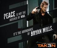 Taken 3 meme poster - Bryan Mills is powerful