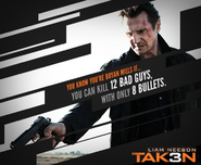 Taken 3 meme poster- number of bad guys and number of bullets