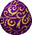 Egg pattern purple