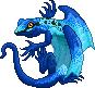 Toxidermis dragon male blue