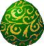 Egg pattern green
