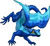 Toxidermis dragon female blue