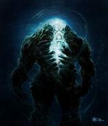 Oceanus in monstrous form