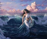 Tethys rising from the waters