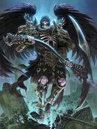Thanatos with scythe