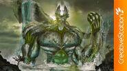 Oceanus rising above the waters