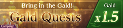 Gald Quests Gald x1.5 (Banner)