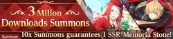 3 Million Downloads Summons (Banner)