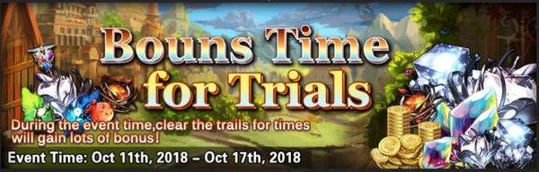 Bonus time for trials