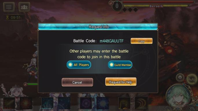 Massive battle-request