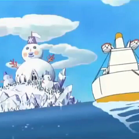 Everlasting Winter Island from the anime show, Tamagotchi!.