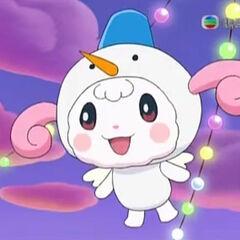 Hapihapitchi as a Snowman costume
