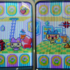 Young Mametchi on the Tamagotchi Plus Color