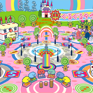 Guruguru Town in Tamagotchi: Party On!
