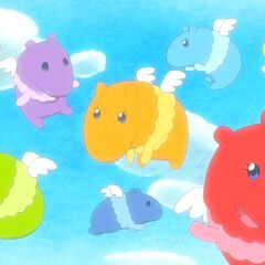 The eight Dreambakutchis in the anime