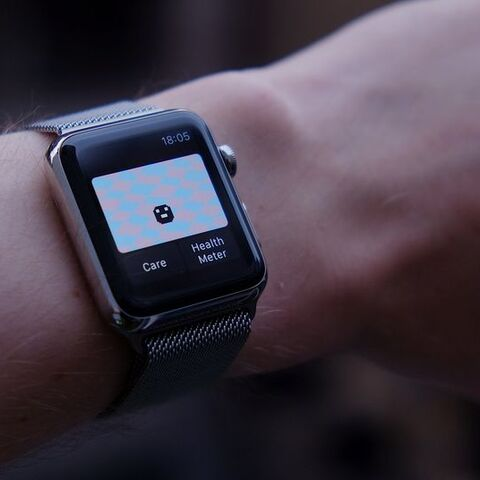 Promotional photo of the Apple Watch functionality.