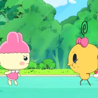 Imotchi and Chamametchi arguing about their Tama Pets