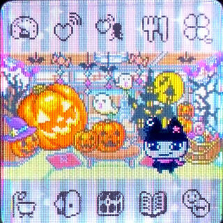 Tamagotchi 4U+ Halloween Theme with Kuromametchi