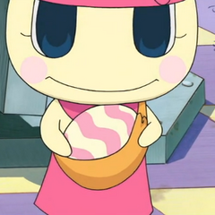 Mamametchi with Chamametchi's egg in <strong class=