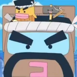 Daikutchi and Tonkatchi riding Daikutchi's truck