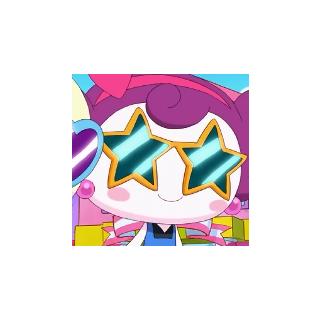 Dahlia wearing glasses