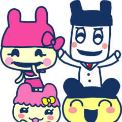 Mametchi with his family