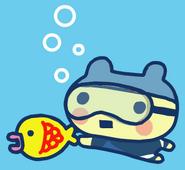 Young mame swim
