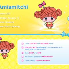 Amiamitchi's profile on tamagotchifriends.com