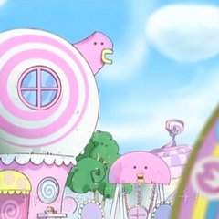 Memetchi's house as seen in <i>Let's Go! Tamagotchi</i>